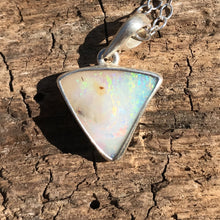 Load image into Gallery viewer, White Triangle Boulder Opal Necklace