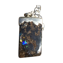 Load image into Gallery viewer, Pretty and Petite Boulder Opal Necklace