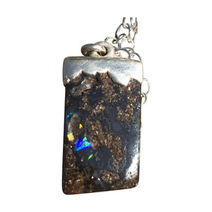 Pretty and Petite Boulder Opal Necklace