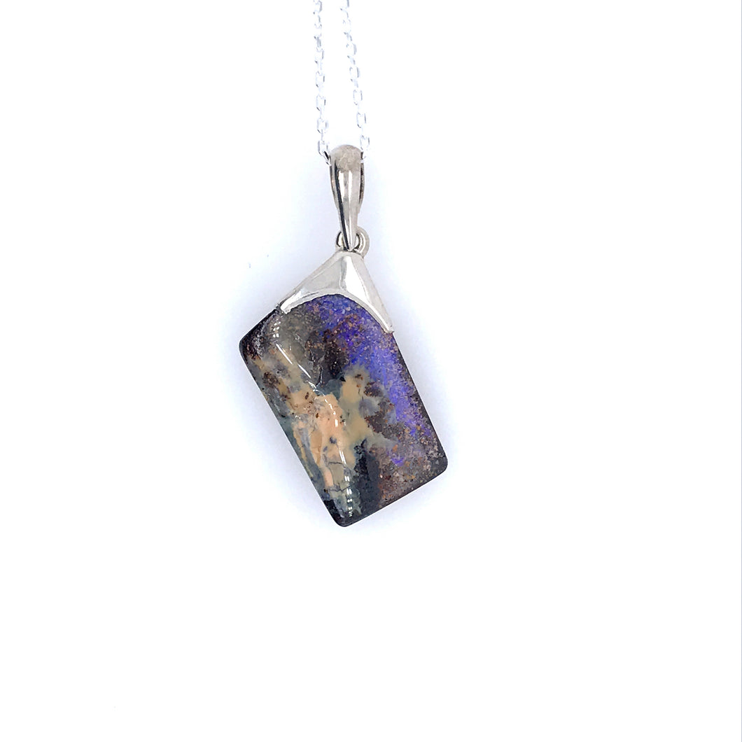 Got You Cornered Opal Necklace