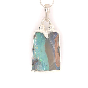 Choose Your Side Boulder Opal Necklace