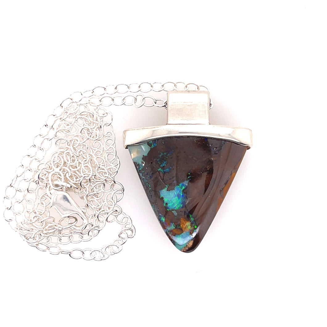 Triangular Beauty Opal Necklace