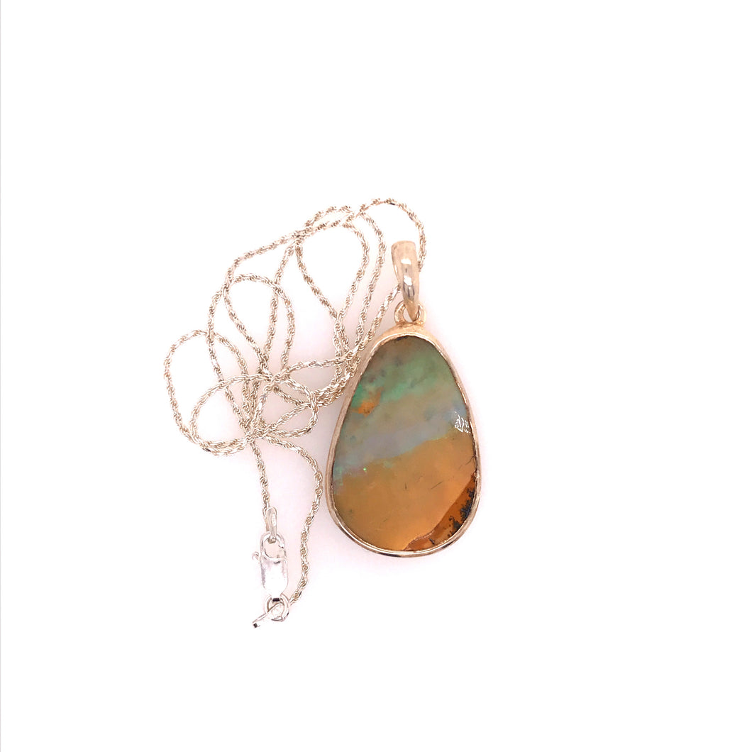 Layers of Day Boulder Opal Necklace