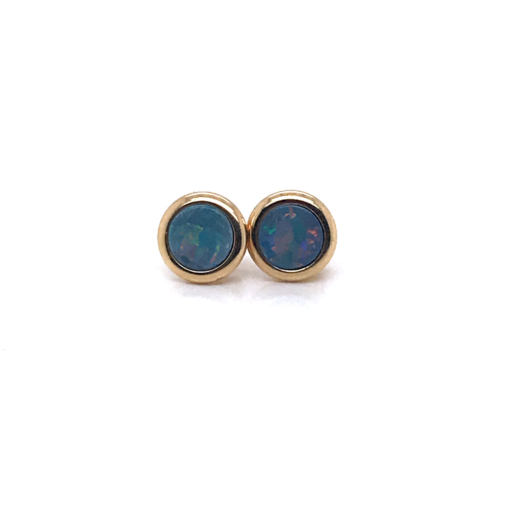 Round About Australian Opal Earrings
