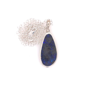 Neon Blue Opal Necklace