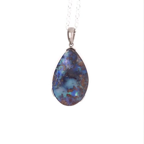 Bring Out the Blue Opal Necklace