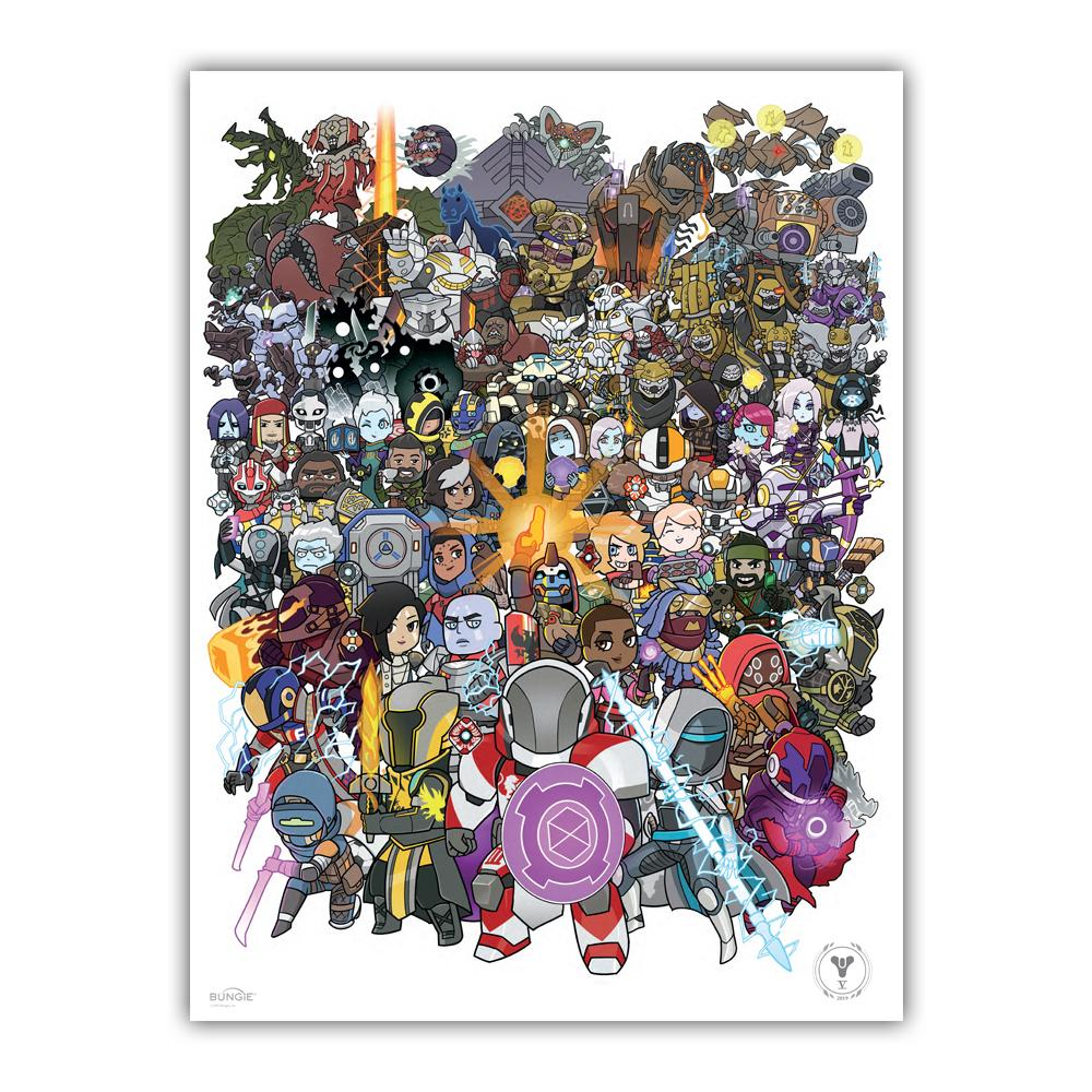 COMING SOON: Destiny 5th Anniversary Characters Poster