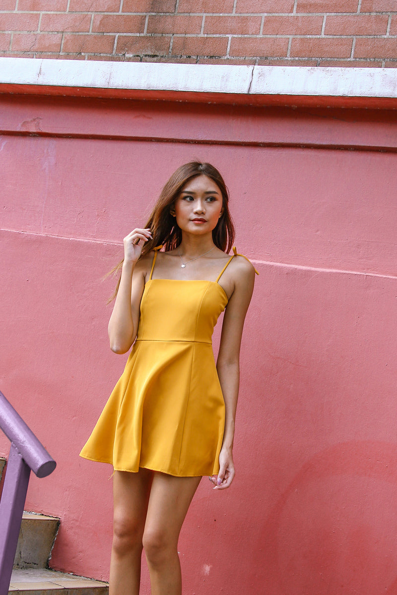 Basic Mini Romper Dress (Butter Corn)