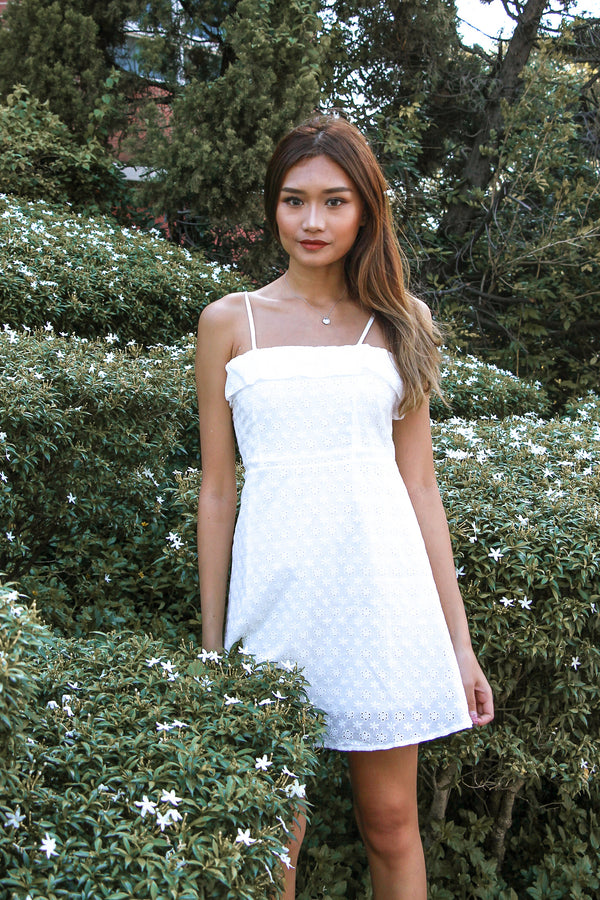 The Go To Eyelet Dress (White)