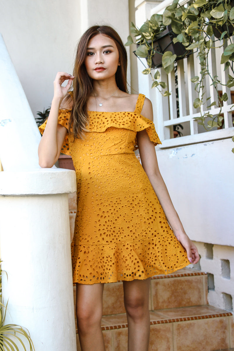 Jill Crochet Dress (Butter Corn)