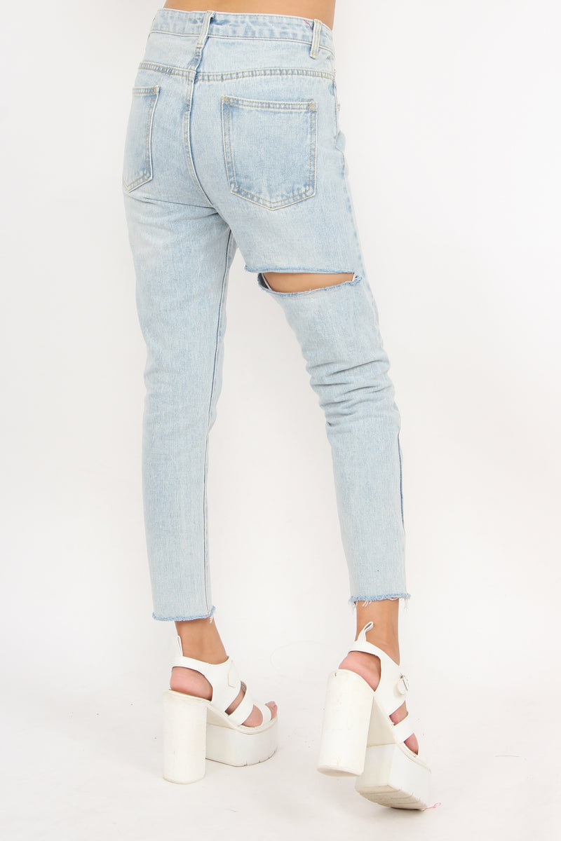 Slash Front And Back Jeans