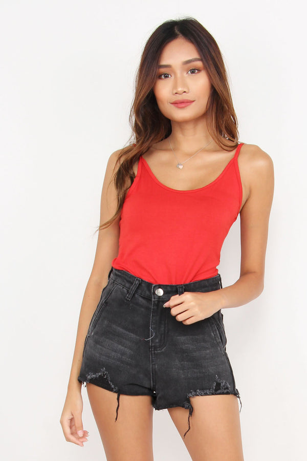 Rebel Basic Scoop Back Camisole (Vermilion)