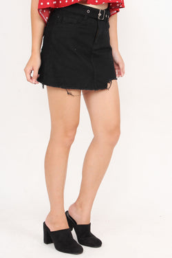Annalee Irregular Edge Skirt (Black)
