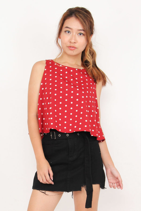 See You In Polka Dot Top (Red)