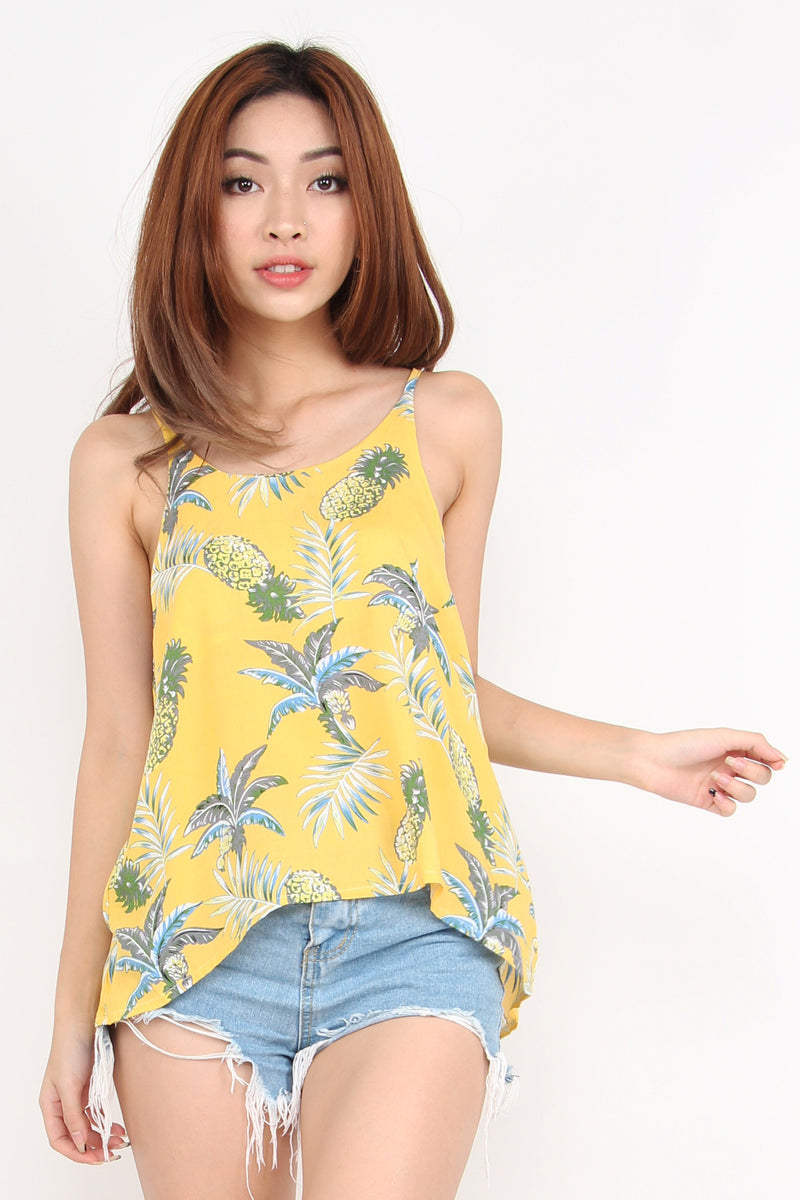 Rebel Tropical Holiday Top (Sunshine)