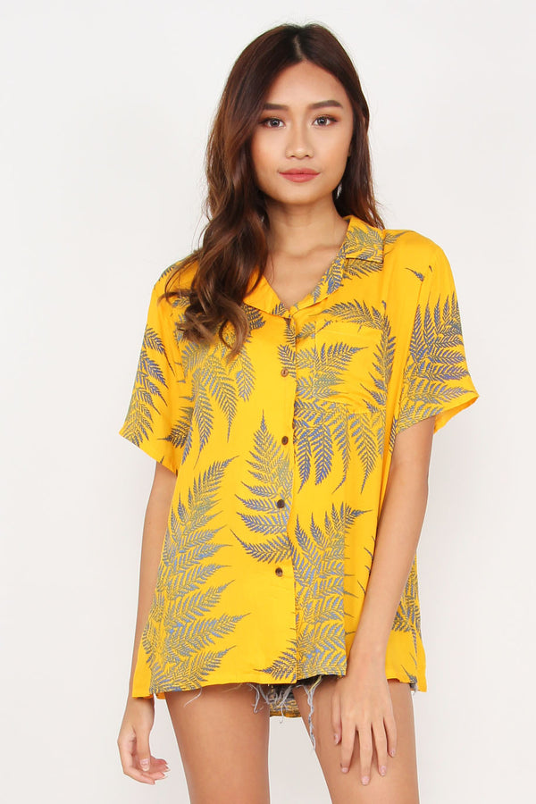 Rebel Hawaii Holiday Shirt (Marigold)