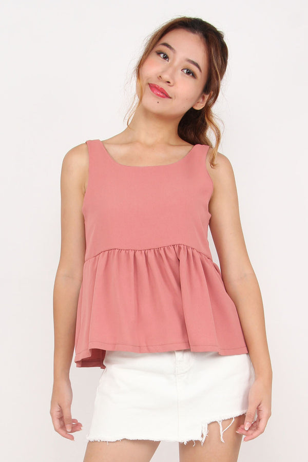 Odila Cut Out Top (Dusty Rose)