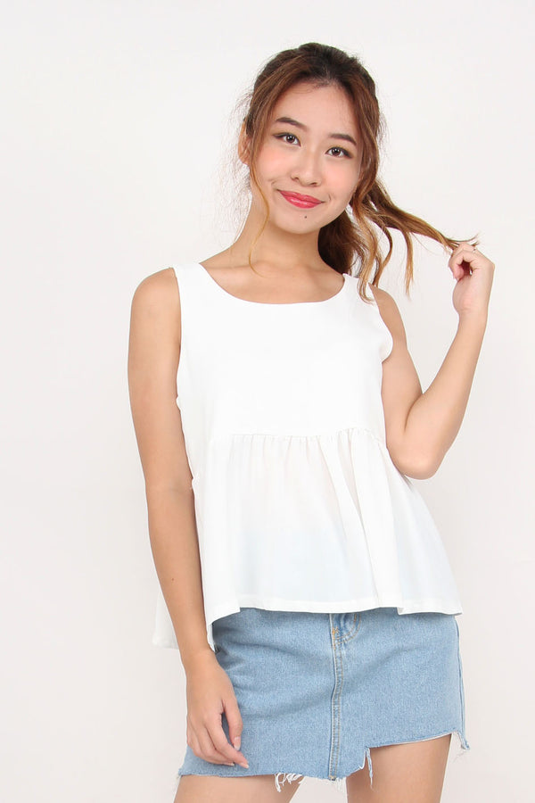 Odila Cut Out Top (White)
