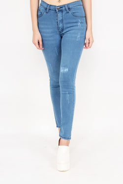 Girl Distressed Skinny Jeans