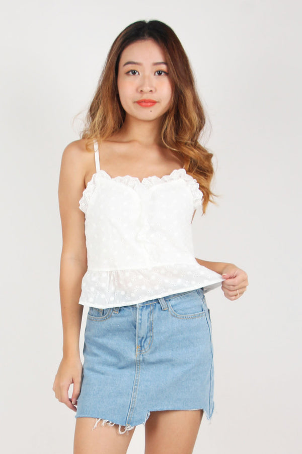 Summer Eyelet Babydoll Top (Bloom)