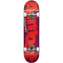 Load image into Gallery viewer, Almost Bent Logo Burgundy complete skateboard 7""
