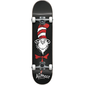 Almost Cat In The Hat Face complete skateboard 7.875""