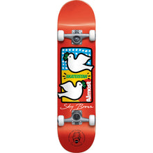 Load image into Gallery viewer, Almost Sky Brown Double Doves Skateistan Red complete skateboard 7.5""