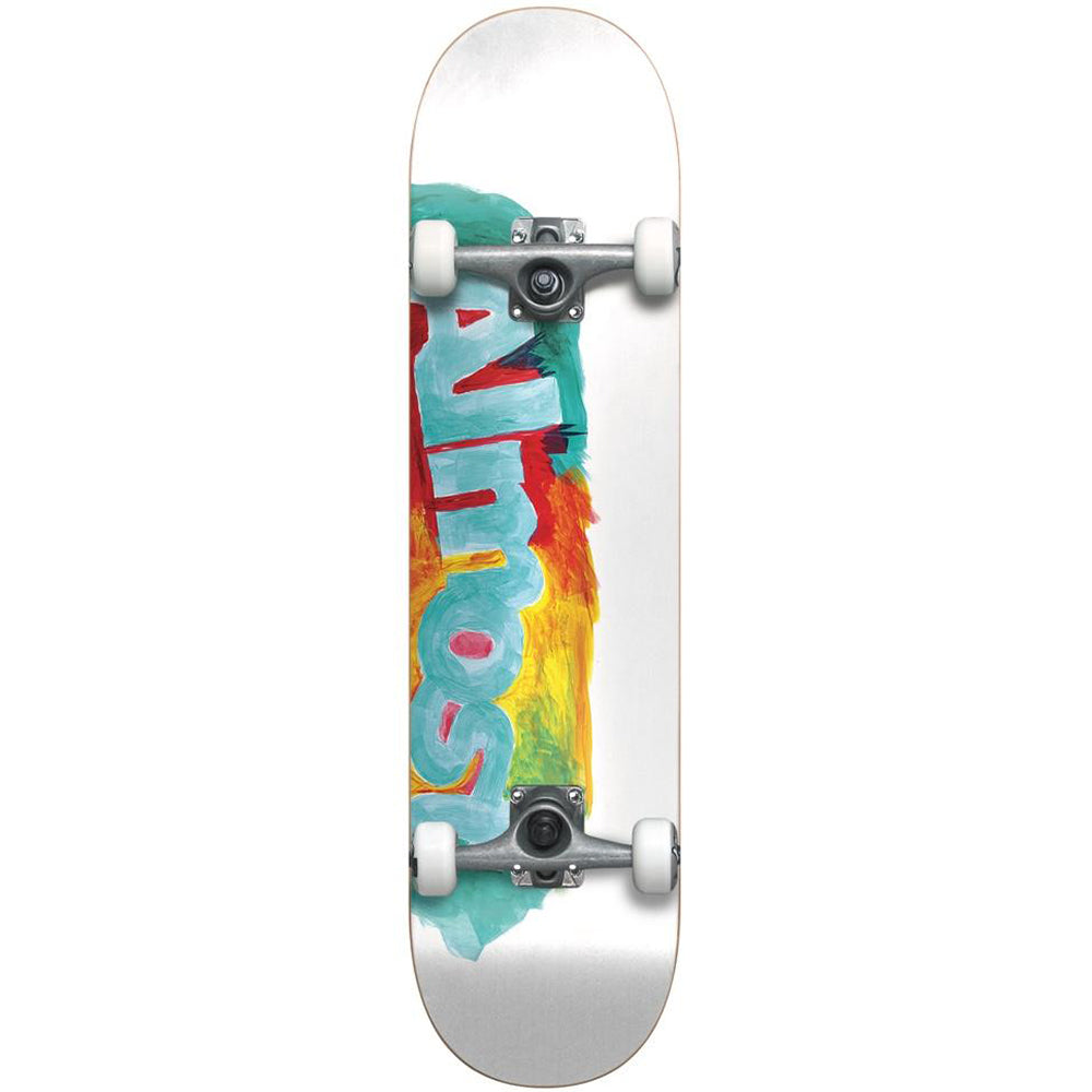 Almost Paint Smudge White complete skateboard 7.5