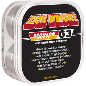 Bronson Speed Co. Zion Wright Pro G3 bearings