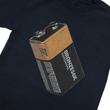 Load image into Gallery viewer, Bronze Battery Tee navy