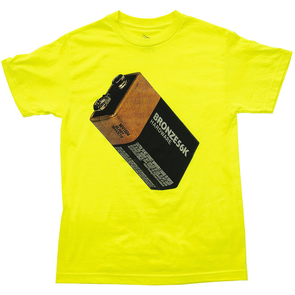 Bronze Battery Tee safety green