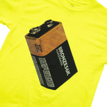 Load image into Gallery viewer, Bronze Battery Tee safety green