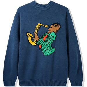 Butter Goods Sax Knit Sweater navy