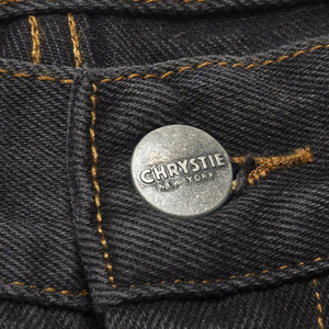 Chrystie Baggy Fit Denim Pants washed black