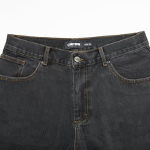 Load image into Gallery viewer, Chrystie Baggy Fit Denim Pants washed black