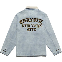Load image into Gallery viewer, Chrystie Chain Stitch Embroidery Logo Denim Jacket