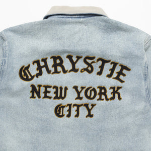 Chrystie Chain Stitch Embroidery Logo Denim Jacket