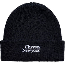 Load image into Gallery viewer, Chrystie Classic Logo Beanie black