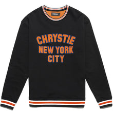 Load image into Gallery viewer, Chrystie Varsity Logo Crewneck Sweater black