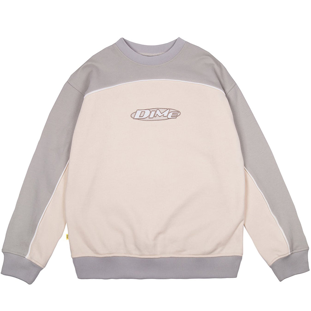 Dime Piping Crewneck cream
