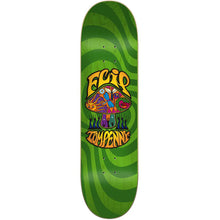 Load image into Gallery viewer, Flip Tom Penny Love Shroom Stained Green deck 8.25""
