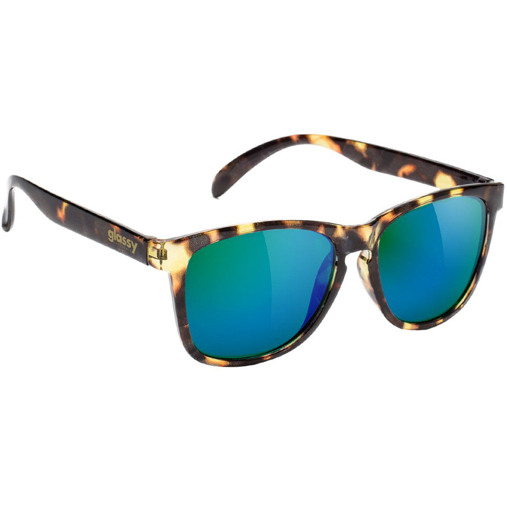 Glassy Deric sunglasses tortoise/green mirror
