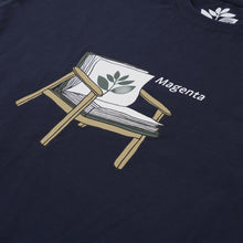 Load image into Gallery viewer, Magenta Book Tee navy