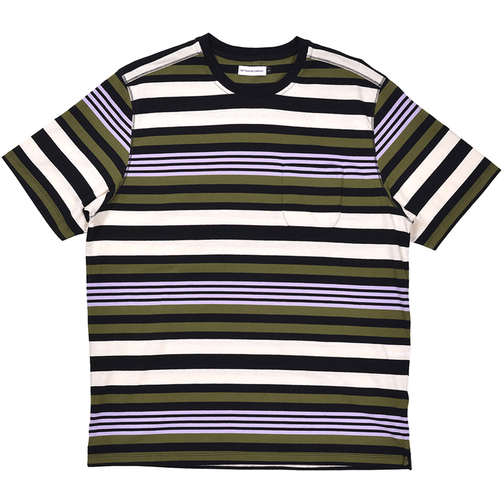 Pop Trading Company Striped Pocket T shirt multicolour