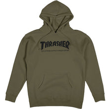 Load image into Gallery viewer, Thrasher Skate Mag hood army