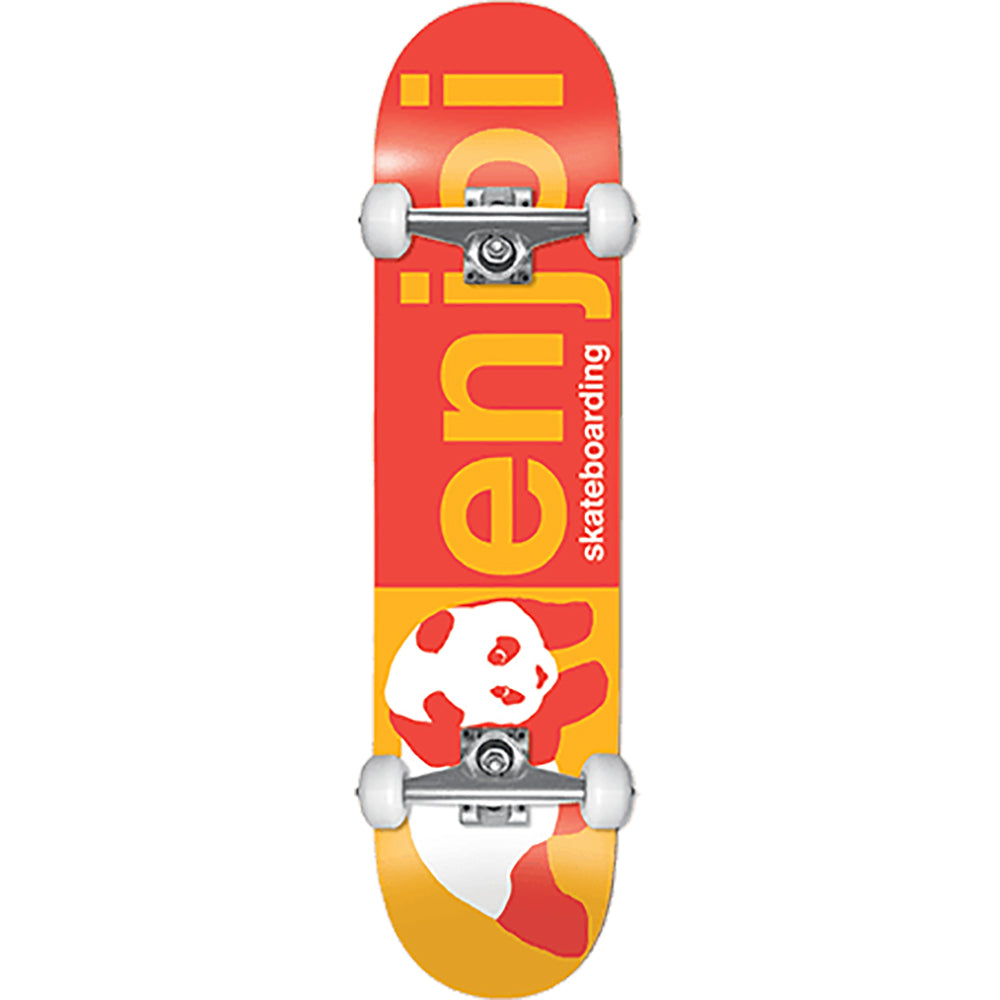 Enjoi Half And Half Red/Yellow complete skateboard 8