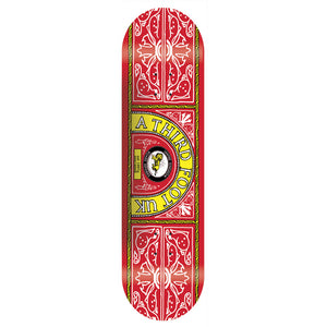 A Third Foot Skate and Lyle red deck 8.25""