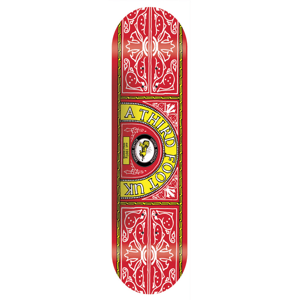 A Third Foot Skate and Lyle red deck 8.25
