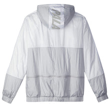 Load image into Gallery viewer, Adidas X Palace light solid grey/white packable windbreaker