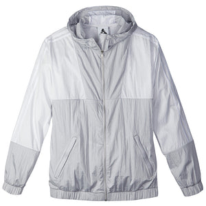 Adidas X Palace light solid grey/white packable windbreaker